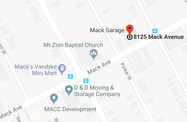 Get directions to Mack Garage